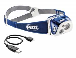Lampara REACTIK color azul con tecnología REACTIVE LIGHTING Petzl